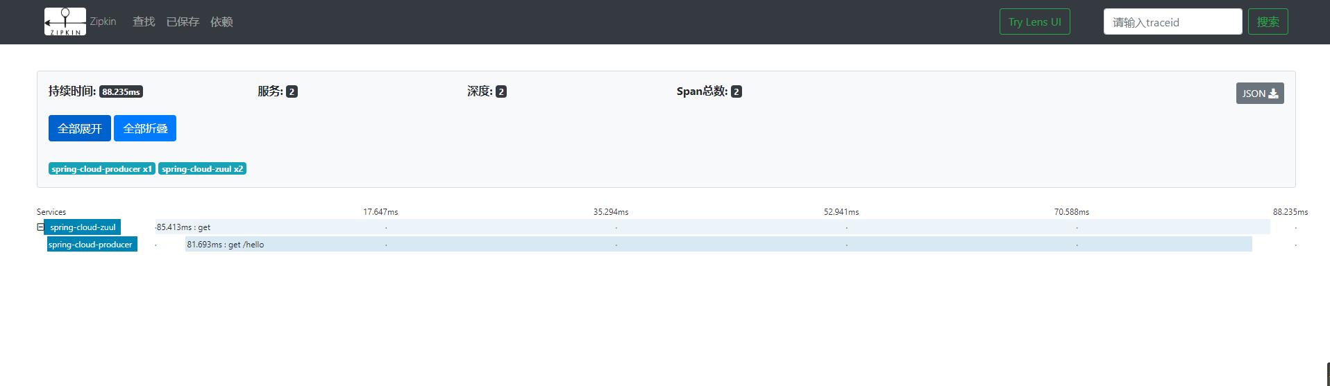 跟我学SpringCloud | 第十一篇:使用Spring Cloud Sleuth和Zipkin进行分布式链路跟踪